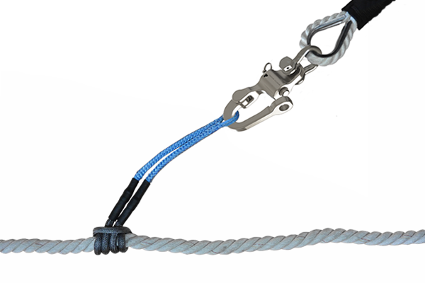Snap shackle with snubber pendant