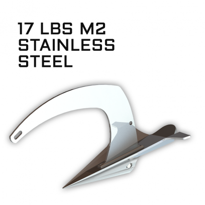 M2 Mantus Anchor Stainless Steel 17 lbs Thumbnail