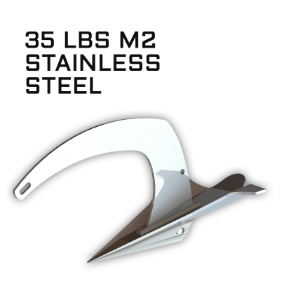 M2 Mantus Anchor Stainless Steel 35 lbs Thumbnail