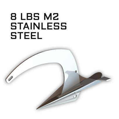 M2 Mantus Anchor Stainless Steel 8lbs Thumbnail